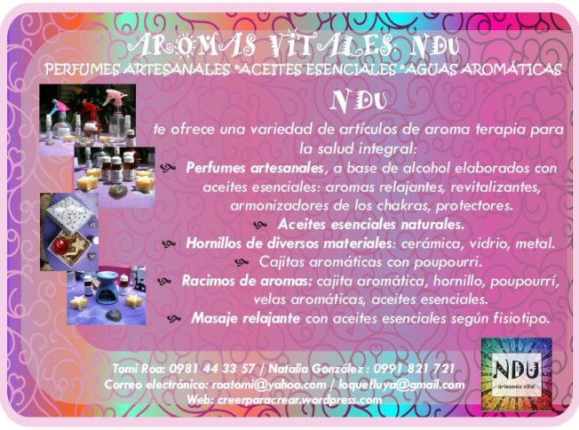 afiche ndu aromas vitales 2013