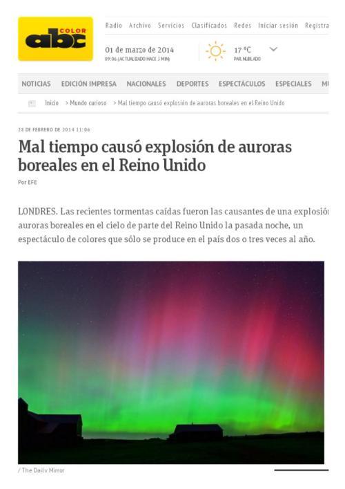 auroras inglaterra