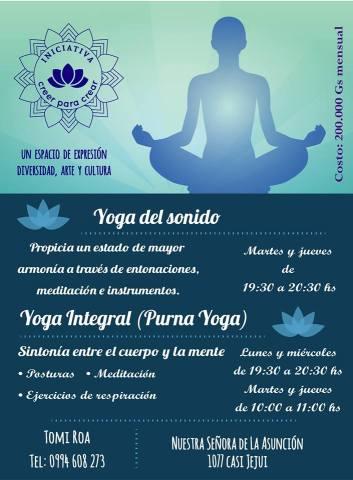 Yoga Del Sonido Yoga Integral Masaje Relajante Masaje Sonoro Masaje Ayurvedico Meditacion Guiada Con La Iniciativa Creer Para Crear Creer Para Crear